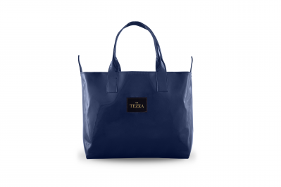SHOPPERBAG NAVY BLUE LACQUER