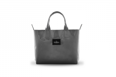 SHOPPERBAG NANO GRAY LACQUER